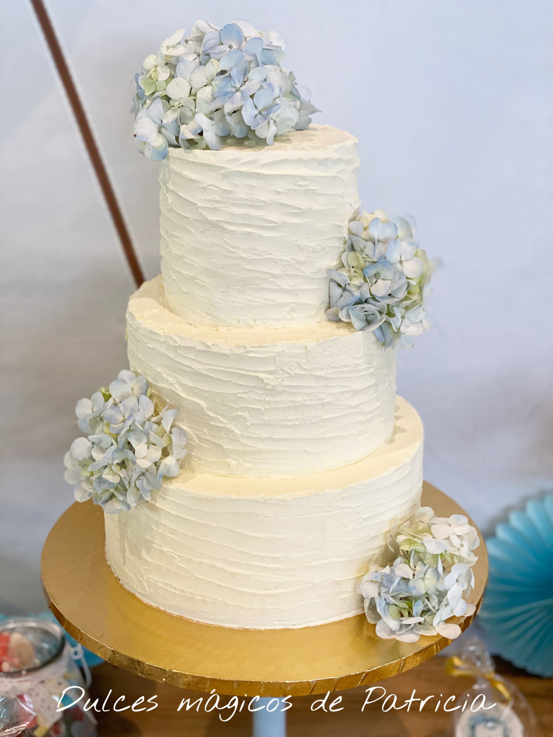 tarta boda hortensias