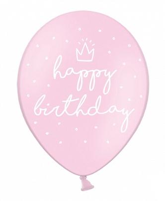 Globo rosa happy birthday helio feliz cumpleaños topos