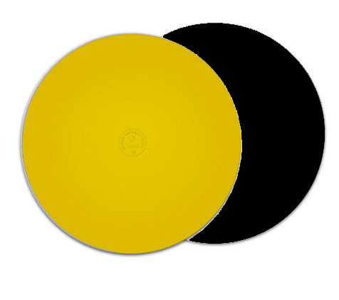 base dorada negra 2mm redonda