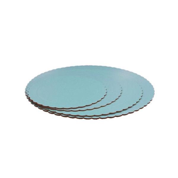 base redonda 3mm bordes ondulados azul
