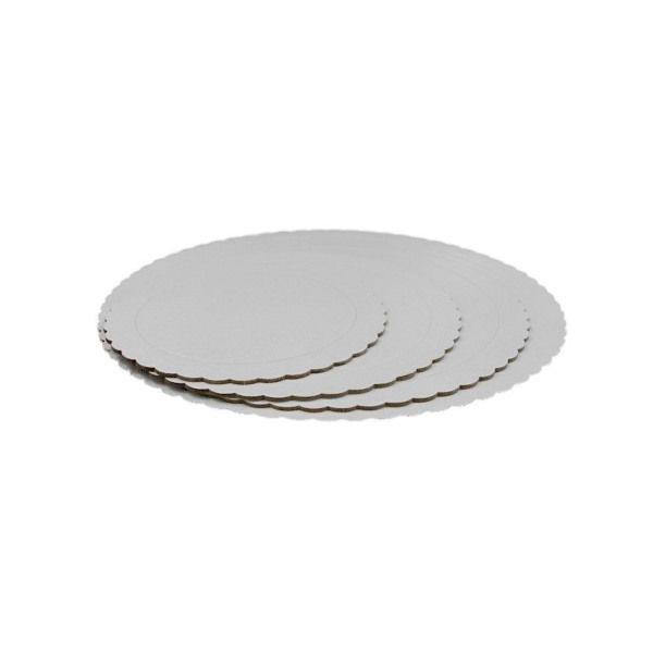 base redonda 3mm bordes ondulados blanco