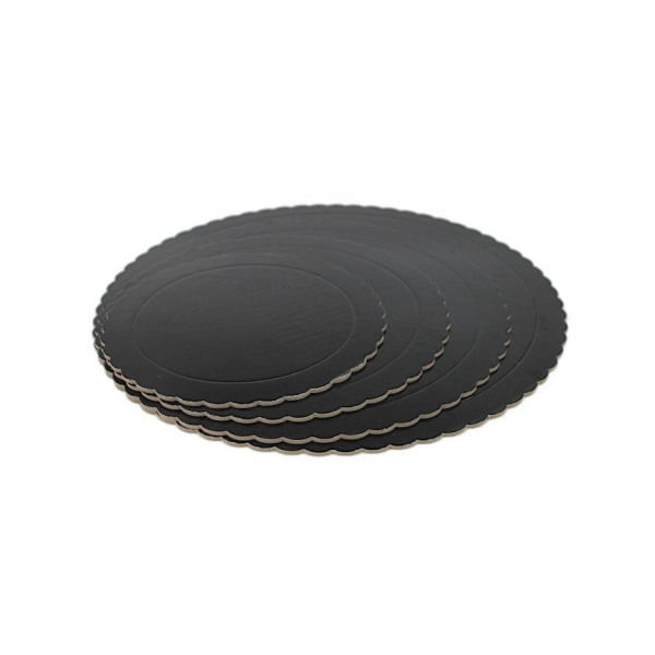 base redonda 3mm bordes ondulados negro