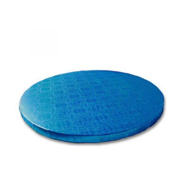 base redonda tarta azul