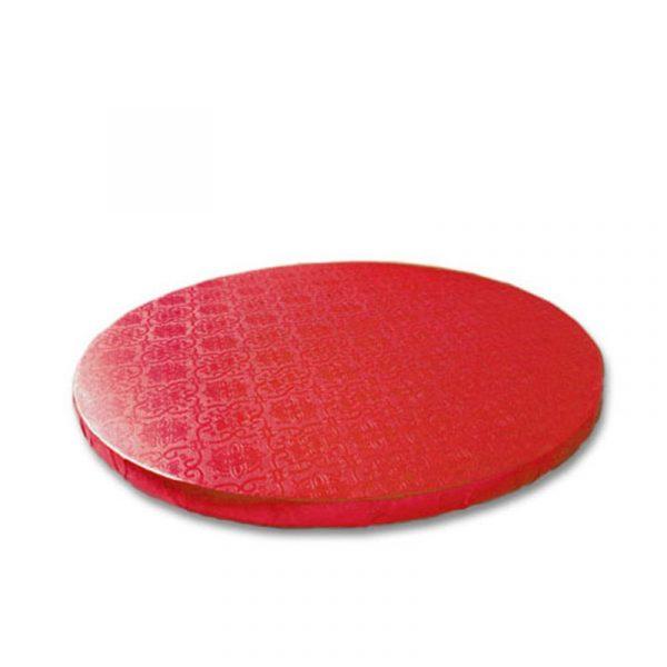 base redonda tarta roja