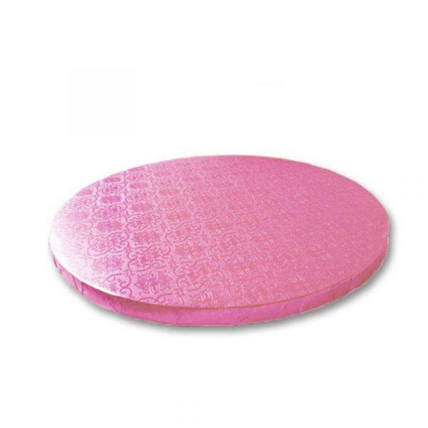 base redonda tarta rosa