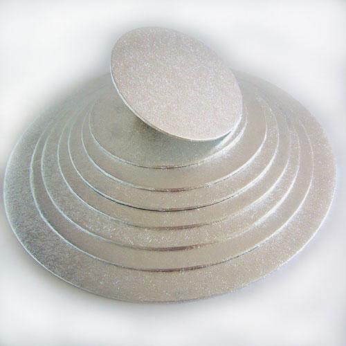 base tarta plateada redonda 4mm