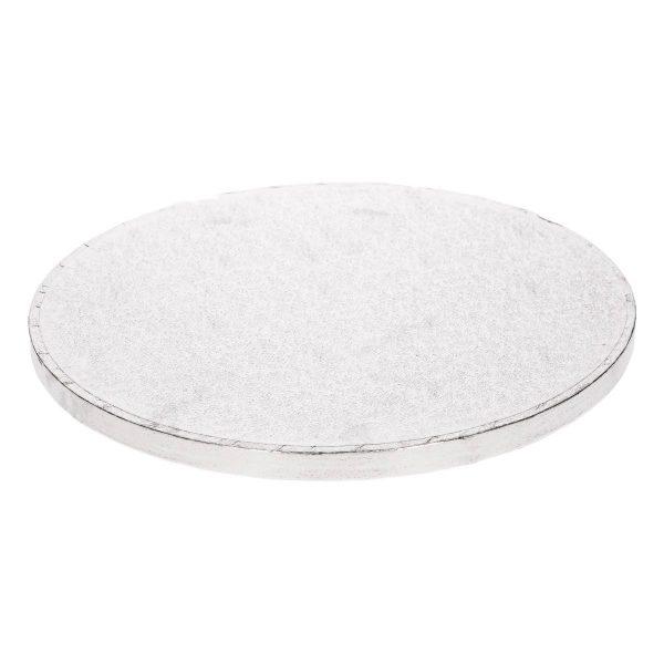 base tarta plateada redonda
