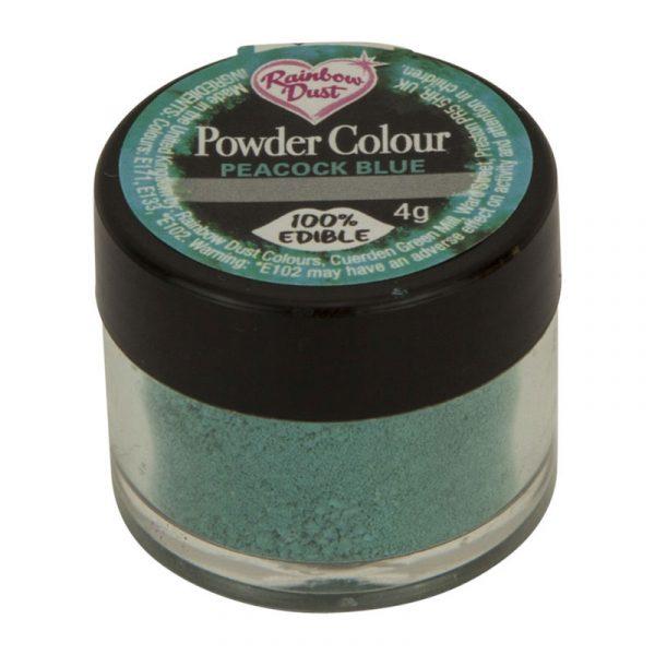 colorante polvo rainbowdust azul pavo real