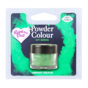 colorante polvo rainbowdust verde hiedra