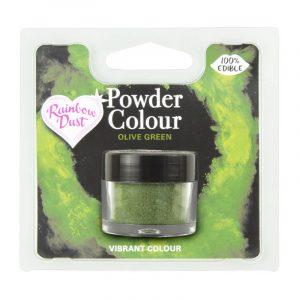 colorante polvo rainbowdust verde oliva