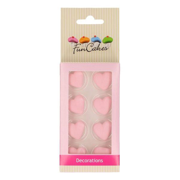 decoraciones azúcar funcakes corazones rosas