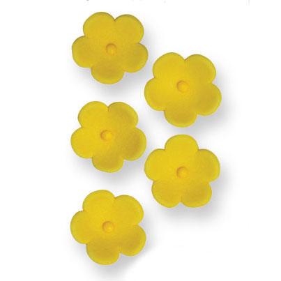 decoraciones azúcar pme flores amarillas