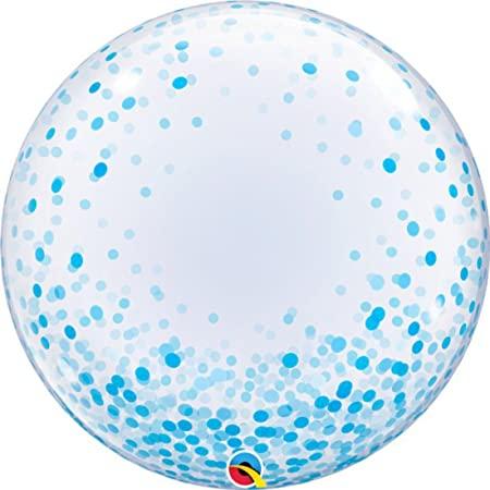 globo burbuja bubble gigante xl dots lunares topos azul