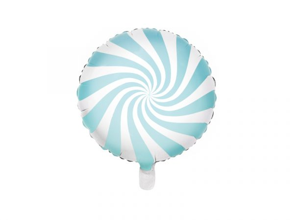 globo foil candy caramelo azul