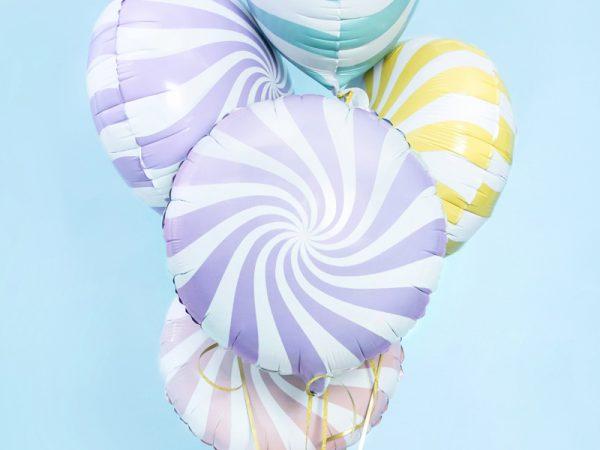 globo foil candy caramelo lila