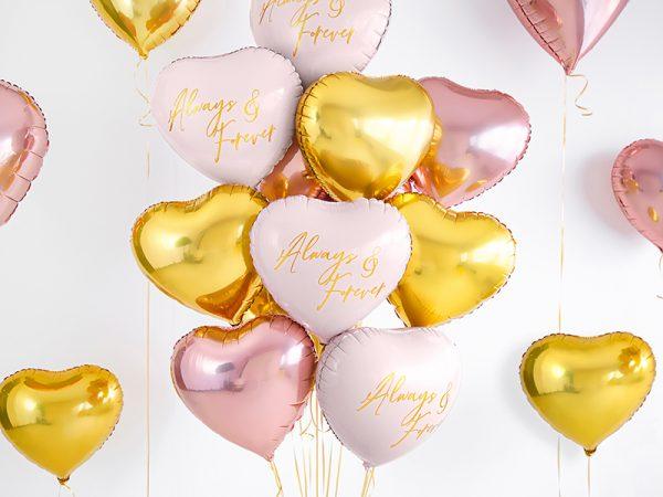 globo foil helio corazón rosa