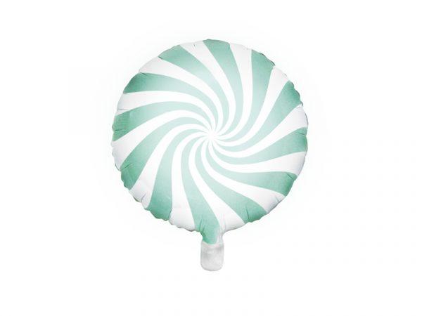 globo foil helio caramelo candy verde mint