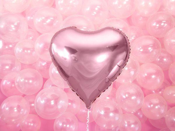 globo helio foil corazón rosa