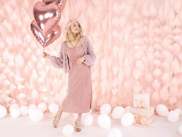 globo helio foil corazón rosa oro dorado rosado