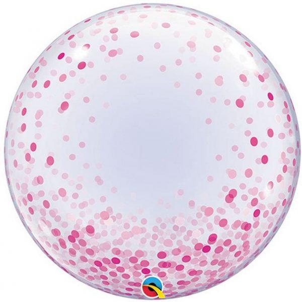 globo burbuja bubble gigante xl dots lunares topos rosa