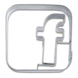 Cortador metálico logo facebook