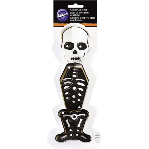Set 3 cortadores halloween esqueleto wilton