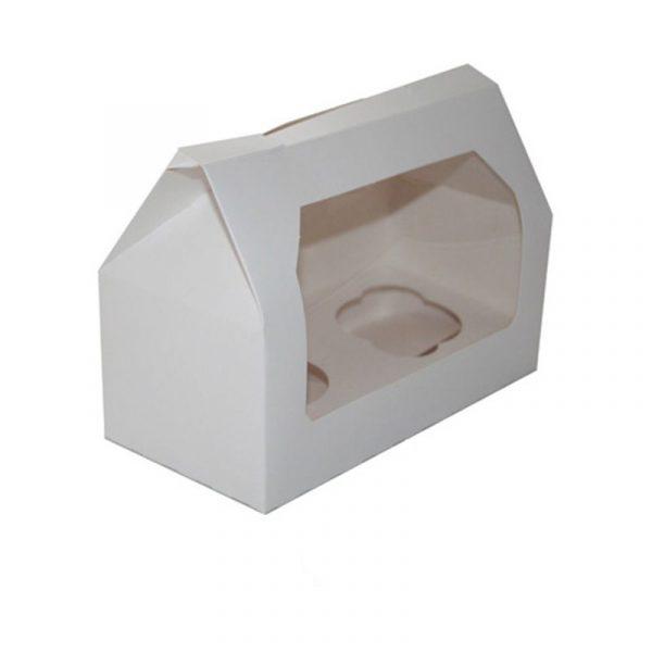 caja cartón 2 cupcakes