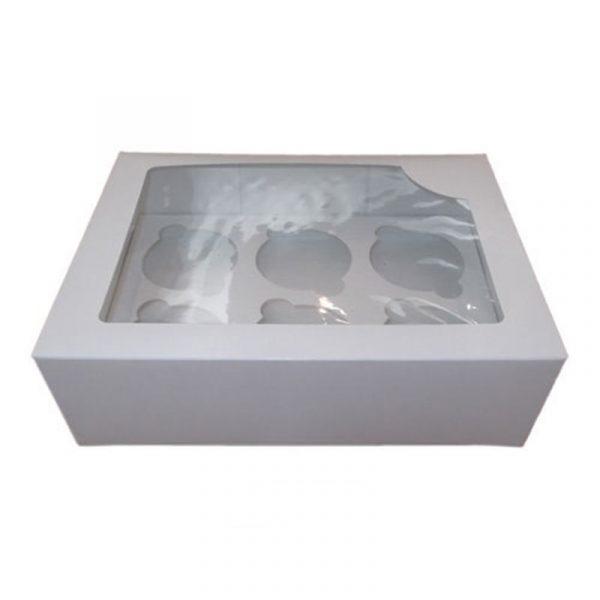 caja cartón 6 cupcakes