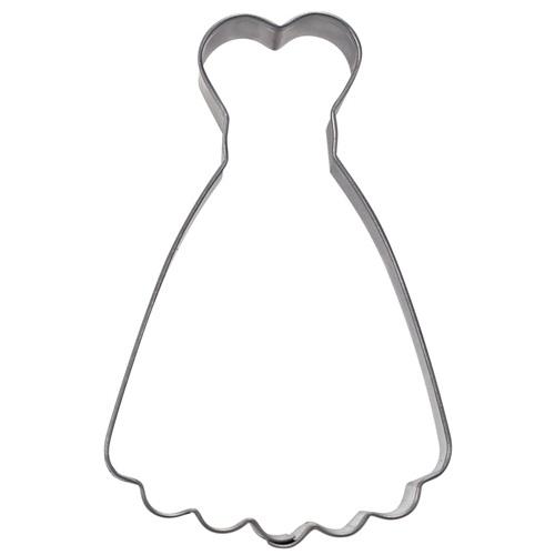 cortador metálico vestido escote corazon Stadter