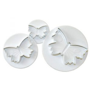 set 3 cortadores expulsor forma mariposas