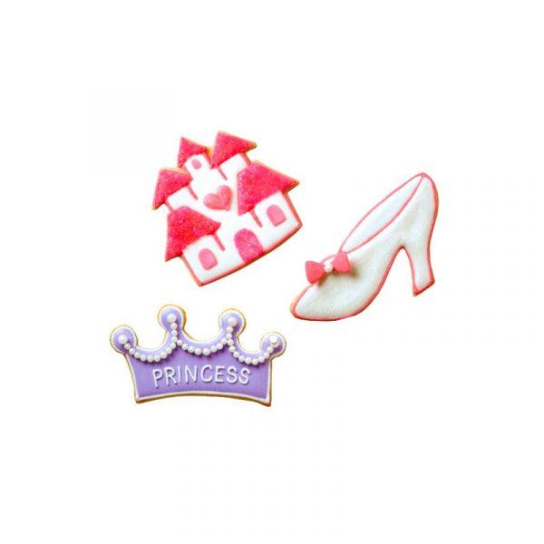 set 3 cortadores wilton princesas