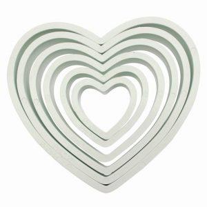 set 6 cortadores corazones PME