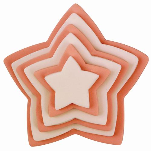 set 6 cortadores estrella PME