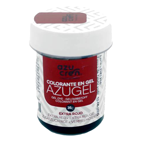 Azugel colorante gel extra rojo