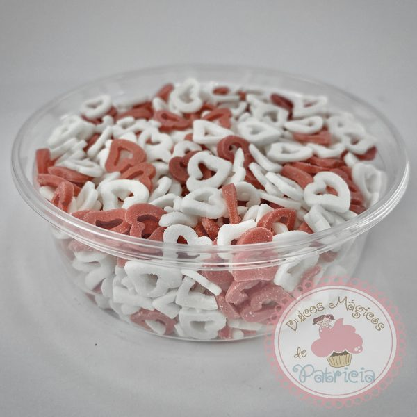 Sprinkles corazones rojo y blanco dulces magicos