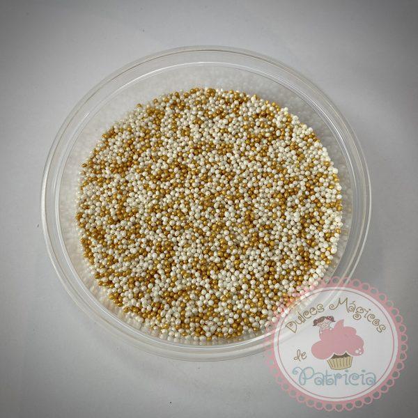 sprinkles perlitas dorado blanco dulces magicos