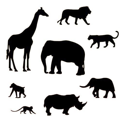 Set cortadores patchwork animales safari