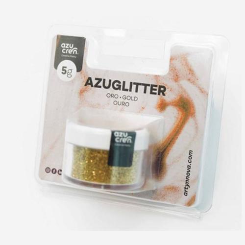 azuglitter purpurina comestible dorado oro azucren