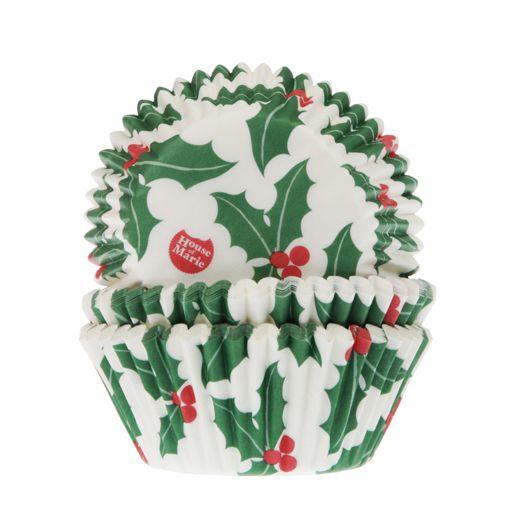 cápsulas cupcakes house of marie navidad christmas hojas de acebo
