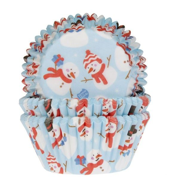 cápsulas cupcakes house of marie navidad snowman muñeco de nieve