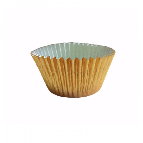 capsulas cupcakes doradas