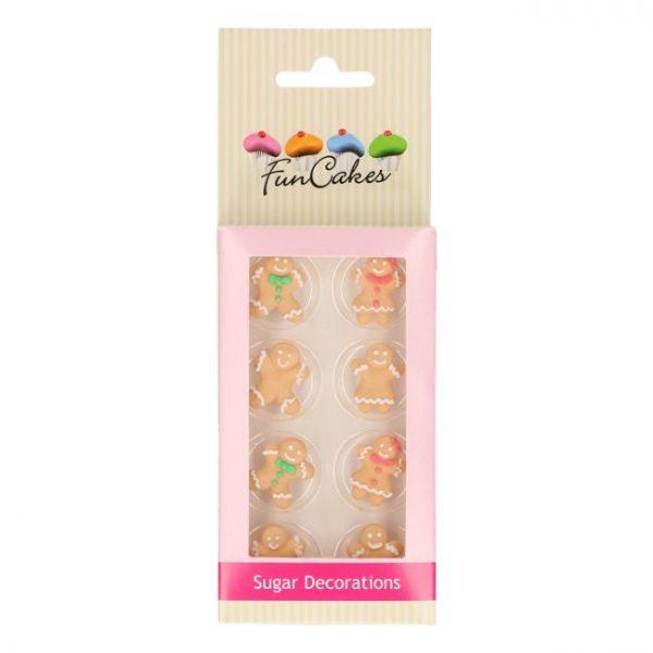 decoraciones azúcar funcakes gingerbread man muñecos jengibre