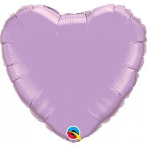 globo foil corazón helio lavanda lila morado
