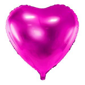globo foil corazón helio rosa fucsia