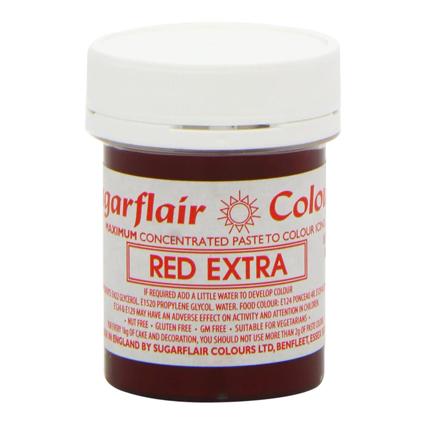 colorante en pasta extra red extra rojo sugar flair