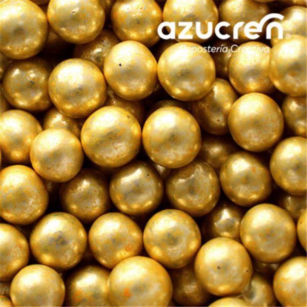 perlas oro metalizada azucren 8mm