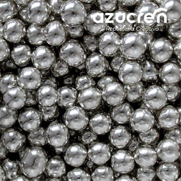perlas plata metalizada azucren 8mm