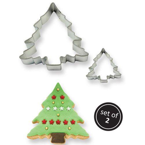 set 2 cortadores arbol navidad abeto PME