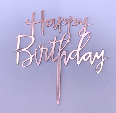Dulces mágicos de patricia Topper happy birthday letras rosa brillante