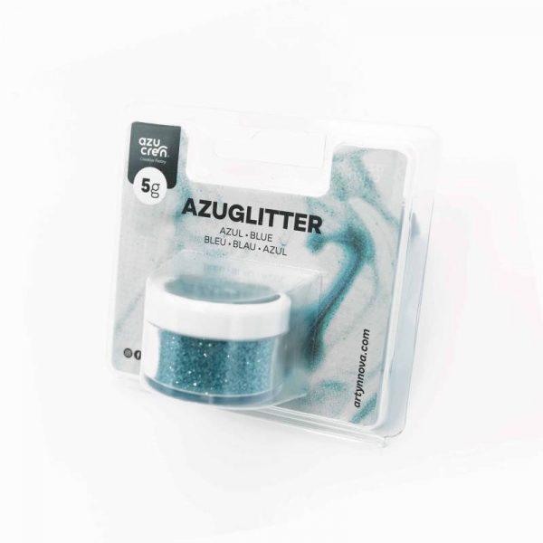 azuglitter purpurina comestible azul azucren